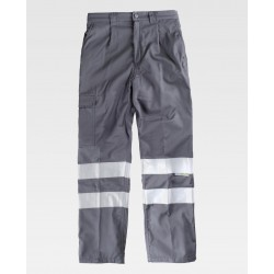 Pantalone multitasche interno in pile